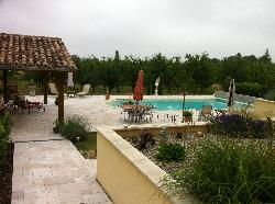 Beautiful pool and area.
