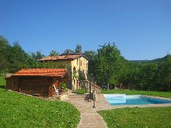 Stone house and sauna and pool