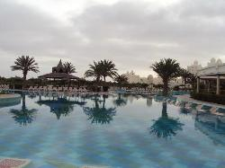 Pool early in the morning