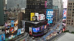 View of Times Square from our room
