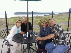 Puget Sound patio table view!!