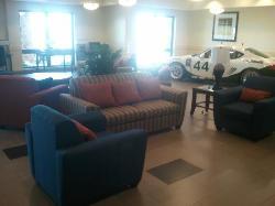 Race car in Lobby