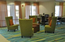 Closer view of lobby/business center.