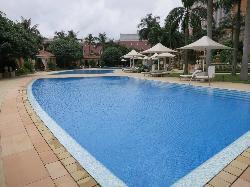 Big swimming pool area