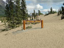 Entering onto the rolling dunes