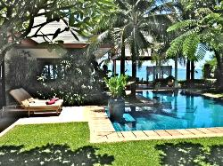 Taken from private courtyard in villa