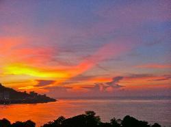 Fantastic sunset view.