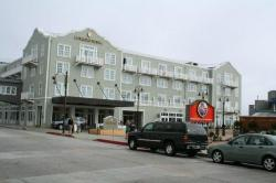 arriving at the hotel on Cannery Row