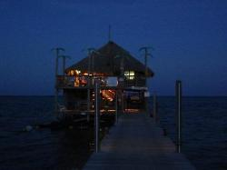 View of the Palapa Bar as the sun goes down