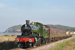 7828 Norton Manor on the West Somerset Railway at Blue Anchor.