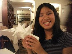 Some fun with napkin origami.