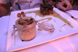 Lamb shank with potato gratin