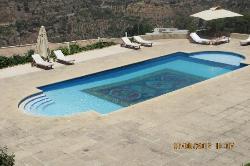 the nice swiiming pool