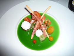 interpretation of a Caprese salad, Caprice Restaurant