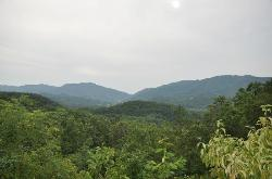 Mountians surrounding the Greenbrier