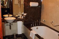 Bathrooms were clean and luxurious.