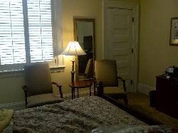 Sitting area of room and sunny window