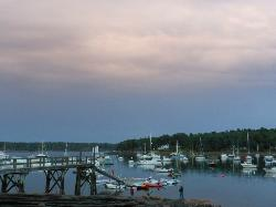 View of Round Pond Harbor from the RP Lobstermen's Co-op