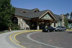 The main entrance, Lake Louise Inn