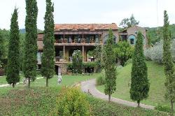 View from the Garden to The Lobby / Restaurant Building