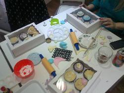 Fun at the cupcake class!