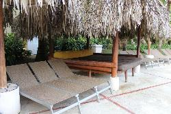 Seating around the pool area