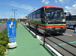 海ほたるのバスは立派なバスでした