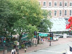 View of Quincy Market area