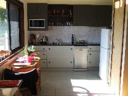The kitchen inside the villa