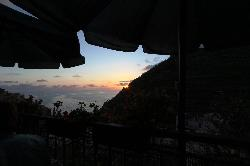 View from our table of the sunset