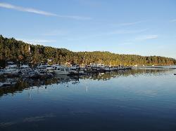 Browning Harbor Marina as seen from Port BrowningPub
