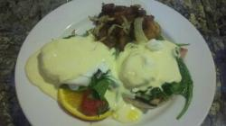 Eggs Benedict at the Bohemian Hotel