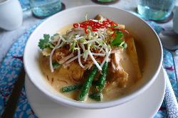 Laksa soup at the Uma Restaurant