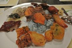 Mixed dishes you can find at Bambu Buffett resto