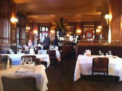 Interior of Brasserie.