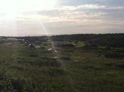 campground from dune
