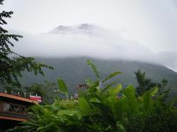 cloudy volcano