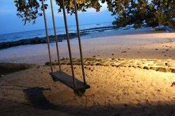 THe beach in the evening sun