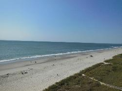 from 912's balcony: view of beach looking south