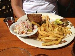 Chicken Salad Sandwich, Slaw & Fries