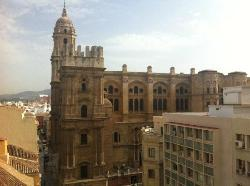 View from the rooftop pool - the Cathedral