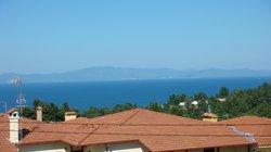vue du balcon de l'appartement
