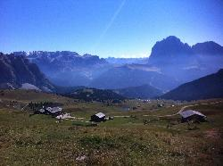 View from above at the Rifugio Troer