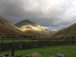 View of the Great Gable from the Ritson's Bar