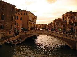 Ponte delle Guglie from our room at La Palazzina Veneziana
