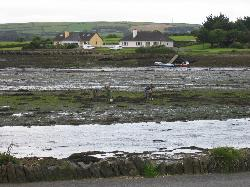 View of bay at low tide from front of Heatons