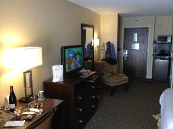 Well decorated and appointed room.