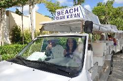 Carritos de traslado hacia la playa
