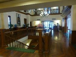 Hotel reception desk area
