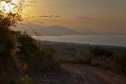 Sunset view across the coastline